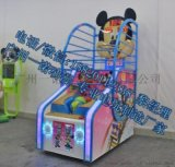 广州番禺单人投币投篮机游戏机玩法~熊猫篮球机