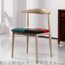 斯鼎牛角椅廠家批發新時尚復古美式鄉村酒店飯店家用餐椅