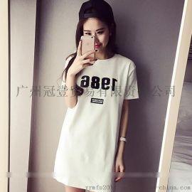 2016夏季新款 修身時尚數位印花 休閒T恤裙連衣裙