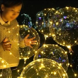 東莞峯雲PVC廠家一站式供應各種晚會求婚備用氣氛必用品氫氣充氣球升空發光波波球