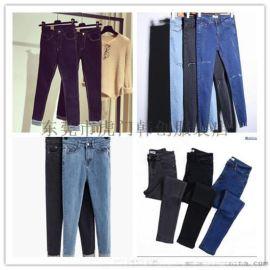 便宜牛仔裤夏季女装小脚裤韩版高腰弹力修身牛仔裤5元