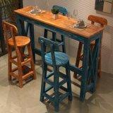 新款美式乡村实木吧台桌 休闲场所复古吧台桌可定制