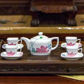 银银瓷器 高端工艺礼品 醴陵瓷器 和美茶具 可以定制