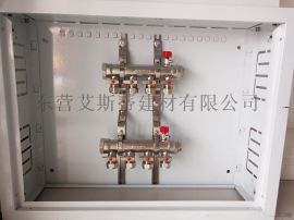 地板輻射採暖用地暖分水器 銅鍍鎳地暖分集水器優質供應