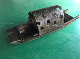楚风木船出售上海饭店装饰船景观道具船木质乌篷船