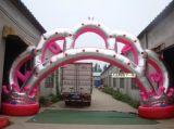 6米8米10米金皇冠门婚庆拱门开业充气气模 拱门彩虹门皇冠门