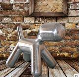 美式太空玻璃鋼鋁皮兒童家具狗仔凳 客廳場商公共場所鞋店換鞋凳