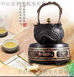 中國傳統手工工藝龍鳳生鐵茶壺還原原始健康煮水生活