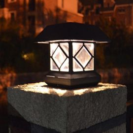 HC HC-13太阳能墙头灯柱头灯LED 庭院围墙灯中字户外大门柱子灯