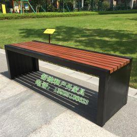 廣州優質鋼結構三人位無靠背公園椅