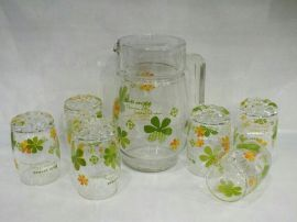 八件套耐热环保玻璃咖啡陶具茶具