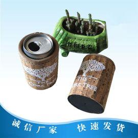 OEM韩版可乐保温冰包潜水料刺绣保冷杯套330ML啤酒瓶套红酒袋促销
