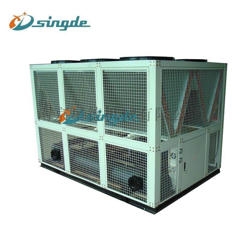 风冷螺杆式冷水机:体积小、噪音低、能量大、寿命长