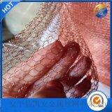 扁铜丝气液网,5mm孔编织铜丝网