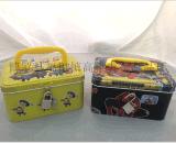 厂家直销新款手提带锁马口铁存钱罐 储蓄盒