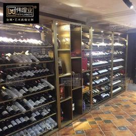 不鏽鋼酒架定制 紅酒架多層酒架葡萄酒架 紅酒展示架