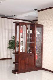 廠家特價直銷實木間廳櫃木言木語卯榫結構實木家具