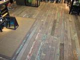 旧船木地板原料