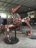 大型花园铁艺 金属动物摆件 金属园艺