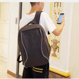 商務男雙肩包定制韓版潮流學生書包訂做多功能電腦包防盜USB背包