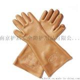 天津双安劳保绝缘手套橡胶绝缘均码5kv绝缘手套褐色