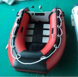 3-4人8-9人的橡皮艇 鋁合金底板衝鋒舟 防洪救災衝鋒舟 橡皮艇廠家直銷