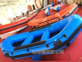 漂流船充氣漂流艇衝鋒舟橡皮艇釣魚船4人景區專業定制