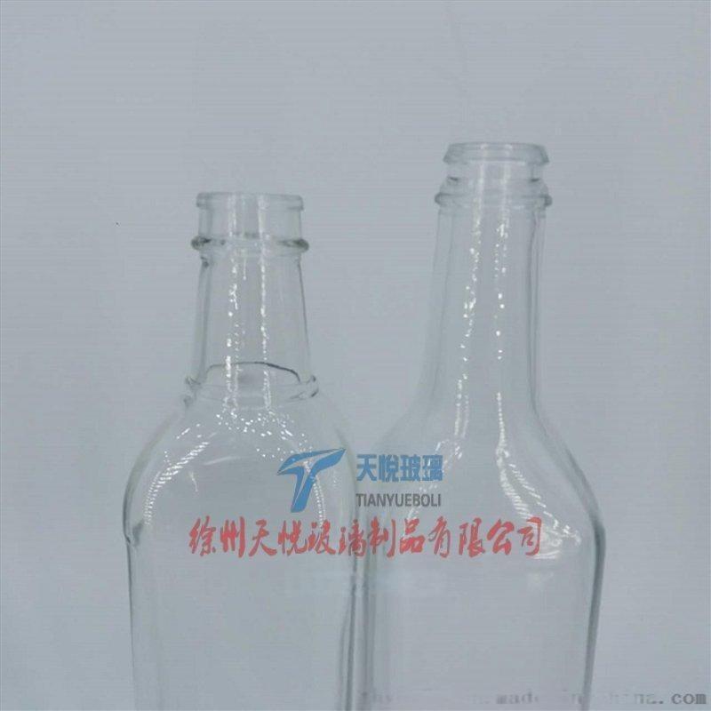 方形料酒玻璃瓶高白料玻璃器皿