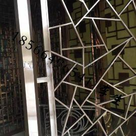 定制201#304电镀玫瑰金不锈钢屏风