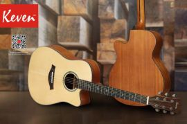 凱文白鬆面單板民謠吉他40寸41寸高檔進階吉他做工手感音色好