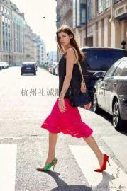 杭州时尚女装欧时力18年秋冬装品牌折扣女装尾货批发