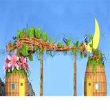 湖北武汉主题乐园正门大门形象艺术设计装饰施工