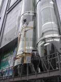 更換弧形玻璃 觀光電梯玻璃 高層外牆玻璃玻璃