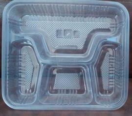 一次性四格餐盘带盖,pp外卖餐盒