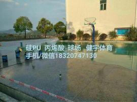 深圳硅pu球場專業施工隊|硅pu生產廠家|硅pu籃球場圍網工程