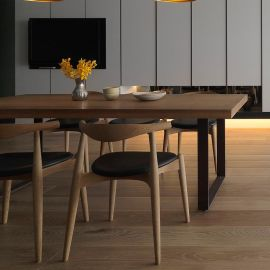 LOFT复古工业风实木餐桌 北欧简约咖啡厅桌椅组合办公桌