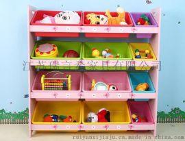 幼兒園寶寶帶書架板式玩具櫃 簡約兒童卡通超大容量整理架
