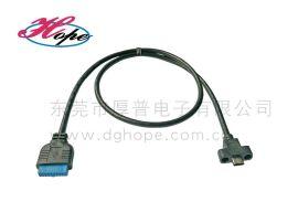 厚普機箱面板前置線USB3.1 Type_c機箱線材