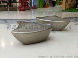 青岛玻璃钢商场美陈坐凳生产厂家