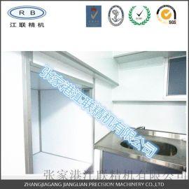 櫥櫃定制 不鏽鋼臺面 不鏽鋼雙層拼裝櫃體 鋁蜂窩襯板 彩鋼門板