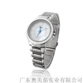 熱銷三針商務手表廠家直銷全鋼套裝石英錶時尚休閒防水手表女士手表定制批發