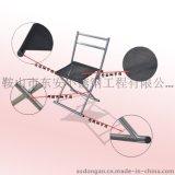 東安ZDD-19不鏽鋼折疊靠背椅 不鏽鋼馬扎 便攜野營戶外 沙灘 釣魚椅 室內進門換鞋椅