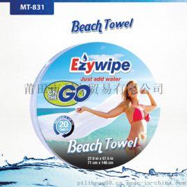 英國Ezywipe浴巾一次性壓縮浴巾旅行酒店出差溫泉速幹毛巾