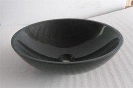纯黑大理石洗手盆台盆、浴室盆、洗面盆