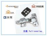 揭陽五金 直臂帶塑料墊 四孔固定腳 櫥櫃/家具專用 緩衝液壓鉸鏈