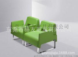 大堂接待沙發,真皮休閒沙發椅,連排沙發椅