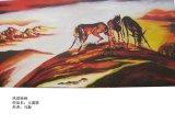 油画风景 北国风光 雕塑家画家马振 新疆风光 大漠情
