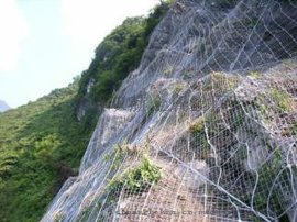 供應貴州(湘桂高鐵)邊坡防護網(主動型300孔)