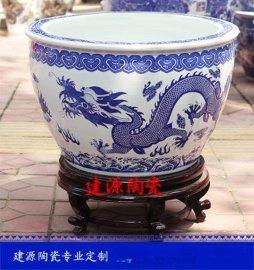 陶瓷大缸 青花一米陶瓷大缸 陶瓷大缸定做