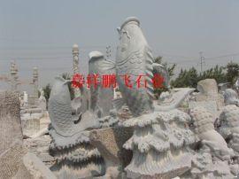 石雕动物 景区石雕鱼